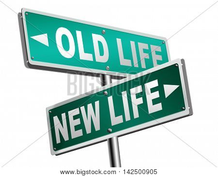 new and old life new beginning or start again last chance for you by remake or makeover 3D illustration