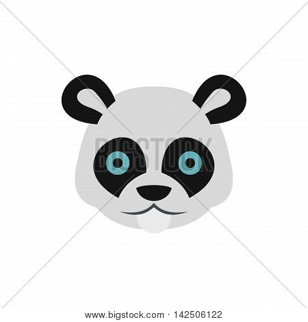 Panda icon in flat style isolated on white background. Animal symbol