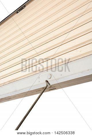 Steel sliding doors Metal sheet slide door with copy space