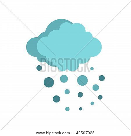 Hail icon in flat style isolated on white background. Weather symbol