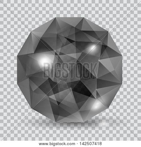 Black Translucent Crystal