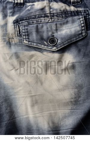 The old trousers pocket for background texture