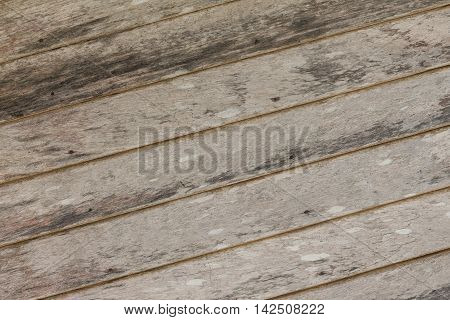 Wood Wooden texture background. The centuries-old  house wall.