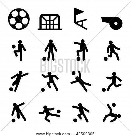 Soccer / Football training icon set Vector illustration Graphic design
