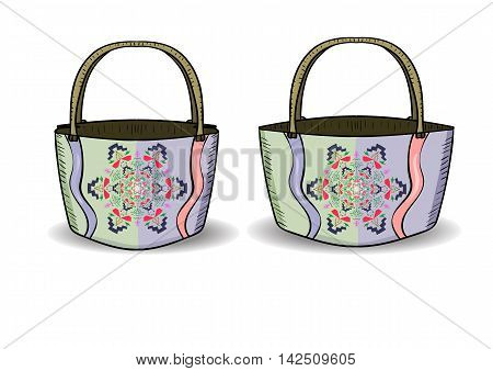 Vector illustration. Beautiful accessory. Print abstract mandala