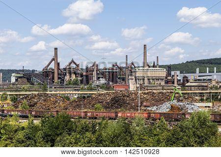 Panorama Of Volklingen Ironworks In Saar