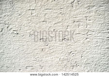 White Wooden Wall With Depressed Chaotic Pattern, As A Neutral Background For Business Presentations