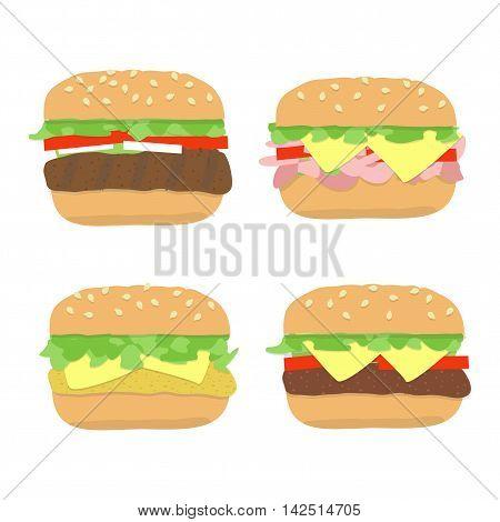 Burger Sandwich Set