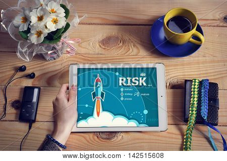 Laptop Computer, Tablet Pc And Risk Concept