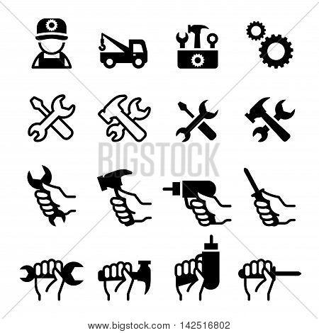 Tools Repair Fix Setup Maintenance tuning install Configuration icons set