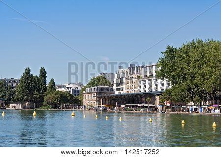 Bassin de la Villette in the 19th arrondissement of Paris