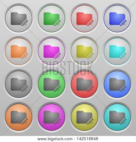 Set of Folder edit plastic sunk spherical buttons.