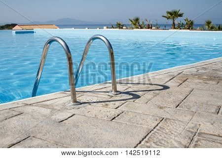 Swimming Pool In A Summer Resort