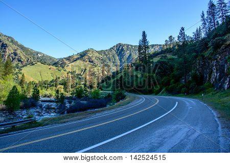 Freeway 140 to Yosemite. It is a beautiful mountain freeway.