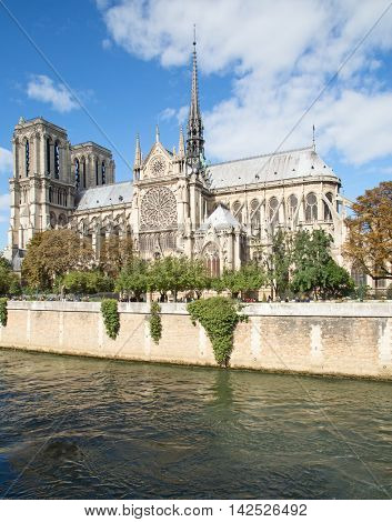 Famous Notre Dame in Paris, France