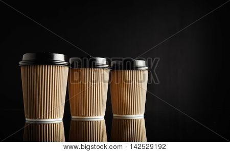 Brown Takeaway Coffee Cup Mockups