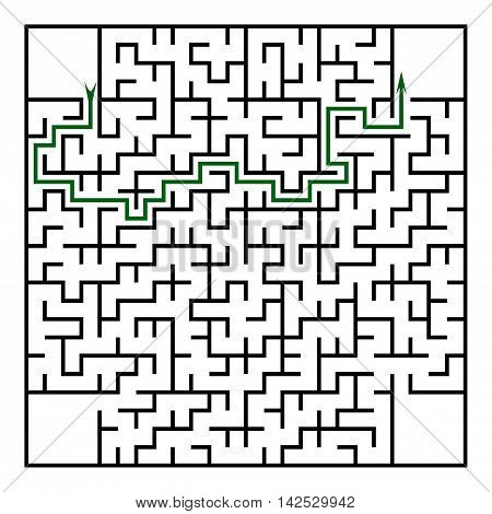 Black square maze (24x24) with help on a white background