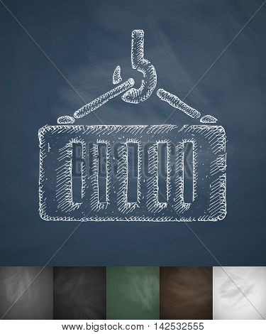 load icon. Hand drawn vector illustration. Chalkboard Design
