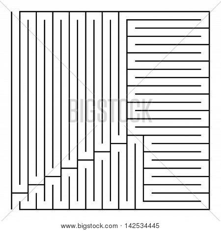 Black square maze(24x24) on a white background