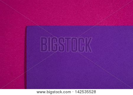 Eva foam ethylene vinyl acetate smooth purple surface on pink sponge plush background