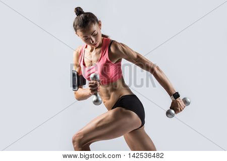 Standing Single Arm Dumbbell Row