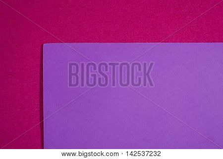 Eva foam ethylene vinyl acetate smooth light violet surface on pink sponge plush background