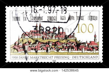 GERMANY - CIRCA 1996 : Cancelled postage stamp printed by Germany, that shows Freising.