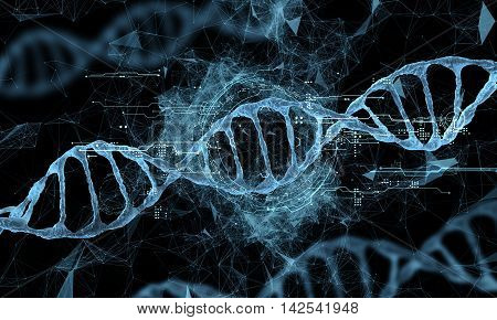 the science of DNA new technology hologram