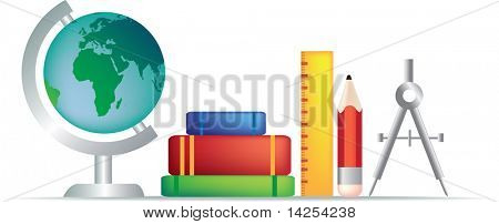 set of education objects for the classroom or learning