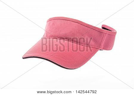 Adult pink golf visor on white background