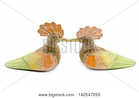 Hen model, isolate image on white backgroundd