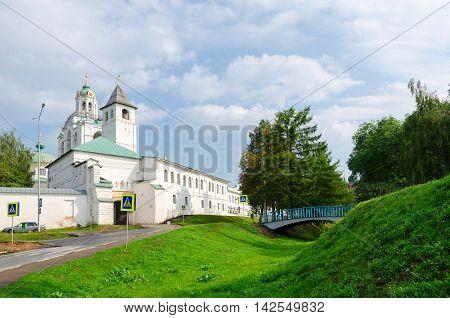 Spaso-Preobrazhensky Monastery Holy Gates with Church of Introduction Yaroslavl Russia