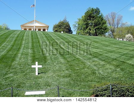 Grave of Robert Kennedy in Arlington National Cemetery Arlington Virginia USA