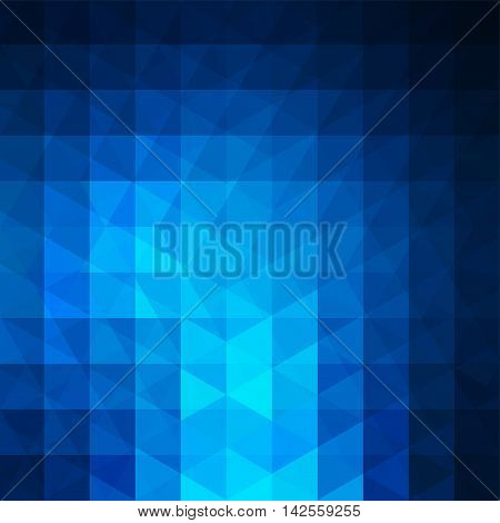 Background Of Geometric Blue Shapes. Abstract Triangle Geometrical Background. Mosaic Pattern. Vecto