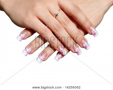 Beautiful manicure on female hands