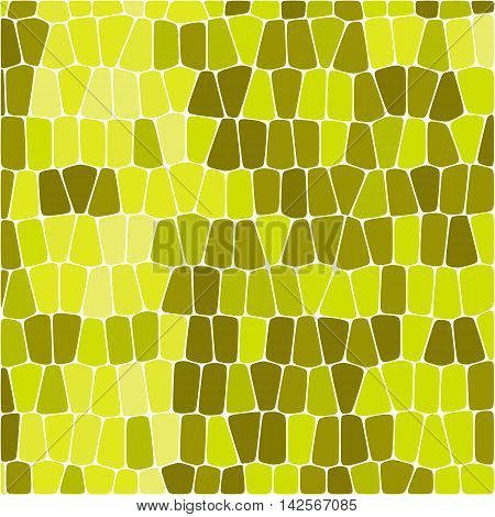 Vector rectangle blocks. Yellow repetition texture. Bright modern brick cover. Mosaic background pattern.
