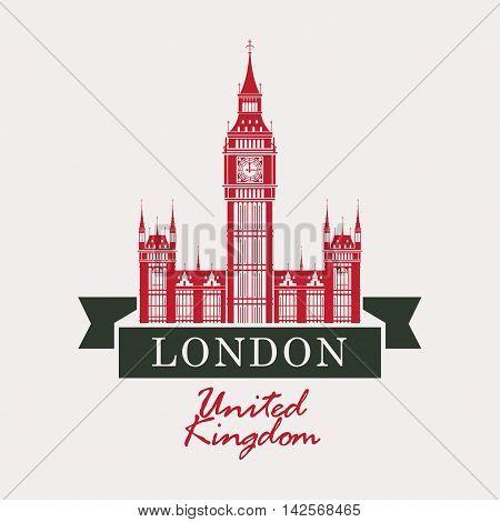 banner with Big Ben in London United Kingdom UK