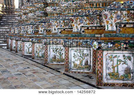 Thailand Wat Arun Dekoration
