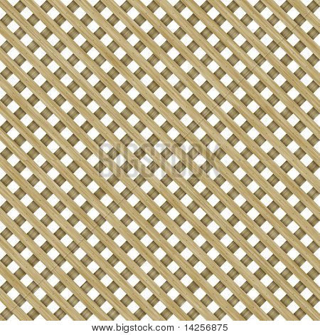 Wooden Lattice Pattern Seamless Background
