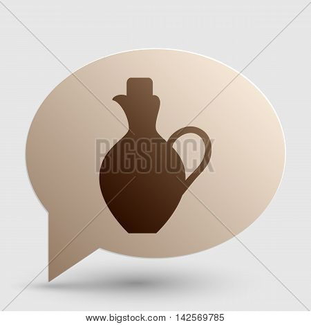 Amphora sign illustration. Brown gradient icon on bubble with shadow.