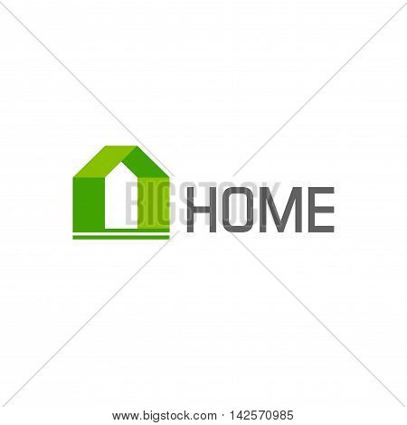Green house logo vector design elements isolated on white background, concept of eco friendly home construction logotype, modern creative trendy brand sign