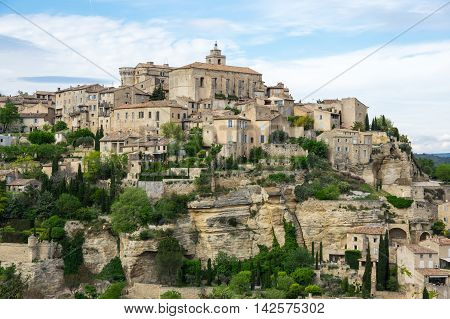 View on the beautiful medieval village of Gordes. This village is included in list of