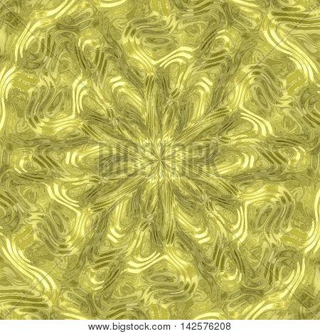 Radial alien fluid metal generated texture, 3D illustration