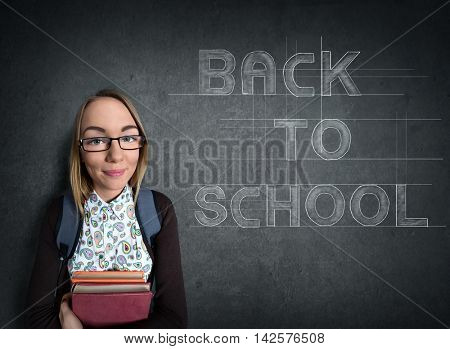 nerd Student  and the words back to school design