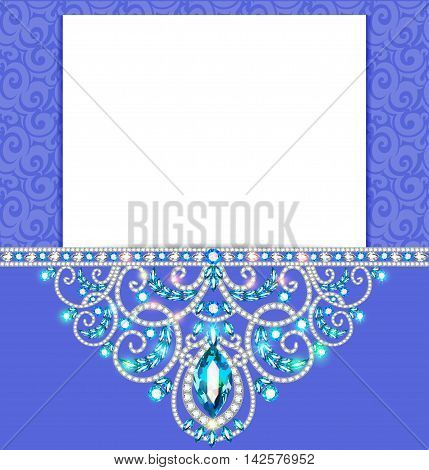 Elegant background with gold ornament with diamond jewelry , fra