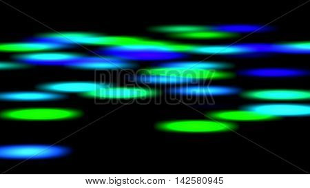 blurred blue green circle lights background image