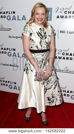 NEW YORK-APR 27: Actress Elizabeth Moss attends the 42nd Chaplin Award Gala at Alice Tully Hall, Lincoln Center on April 27, 2015 in New York City.