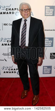 NEW YORK-APR 27: Journalist Carl Bernstein attends the 42nd Chaplin Award Gala at Alice Tully Hall, Lincoln Center on April 27, 2015 in New York City.