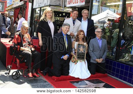 LOS ANGELES - AUG 11: Della Reese, Roma Downey, Mark Burnett, Leron Gubler, Rick Warren as Roma Downey is honored with a star on the Hollywood Walk of Fame on August 11,2016 in Los Angeles, California