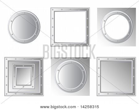 Set-of-metallic-frames